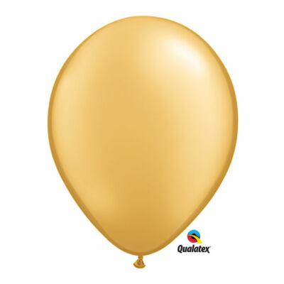 Arany gyöngyházas lufi 15 cm