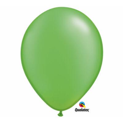 Lime zöld gyöngyházas lufi 15 cm
