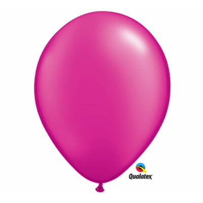 Pink gyöngyházas lufi 15 cm