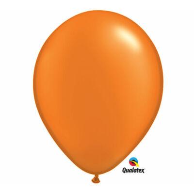 Narancs gyöngyházas lufi 15 cm