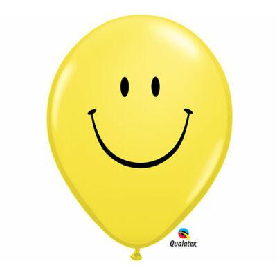 Sárga smile arc lufi 40 cm
