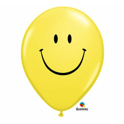 Sárga smile arc lufi 28 cm