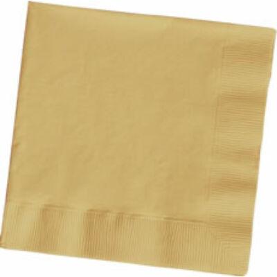 Arany szalvéta 33x33 cm 20 db