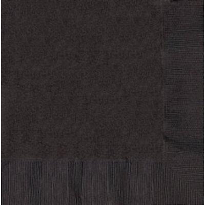 Fekete szalvéta 33x33 cm 20 db