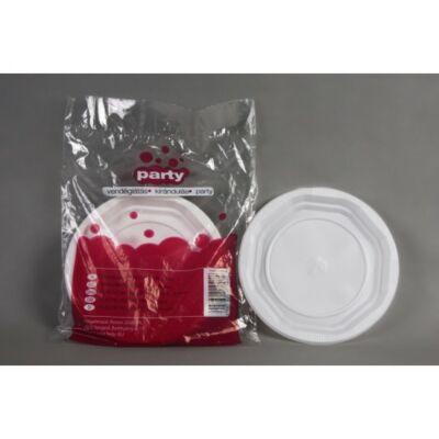 Fehér műanyag tányér 20 db