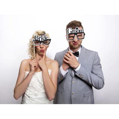 Bride és Groom szemüveg pálca