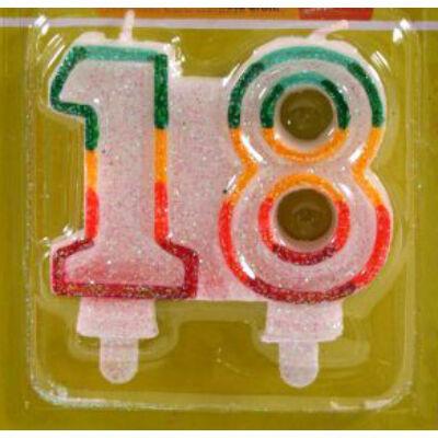 18 szülinapra színes számgyertya