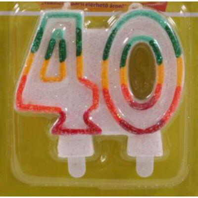 40 szülinapra színes számgyertya