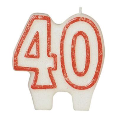 40 szülinapra számgyertya
