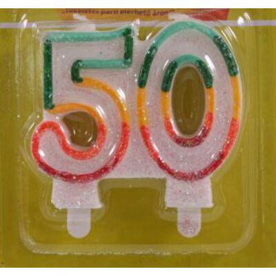 50 szülinapra színes számgyertya