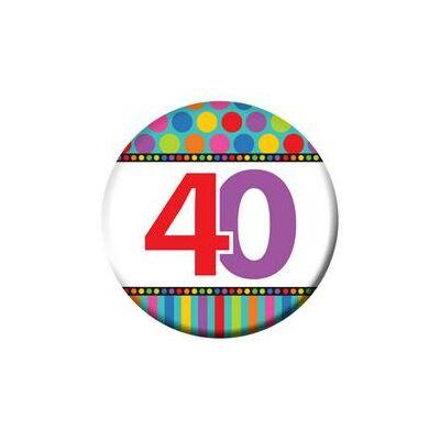 40. szülinapi színes kitüző