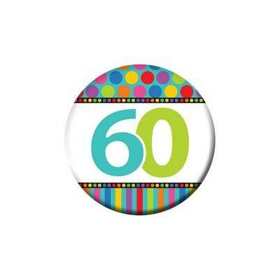 60. szülinapi színes kitüző