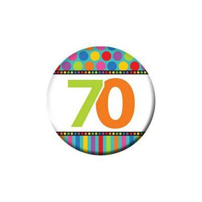 70. szülinapi színes kitüző