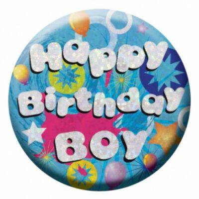Happy Birthday boy prizmás szülinapi kitüző