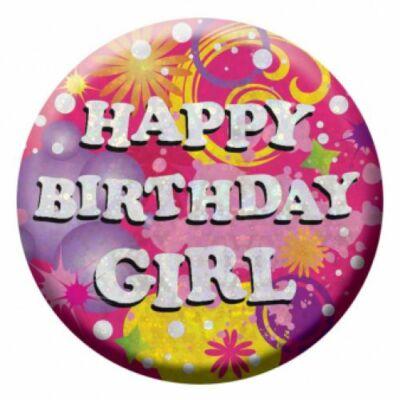 Prizmás birthday girl szülinapi kitüző
