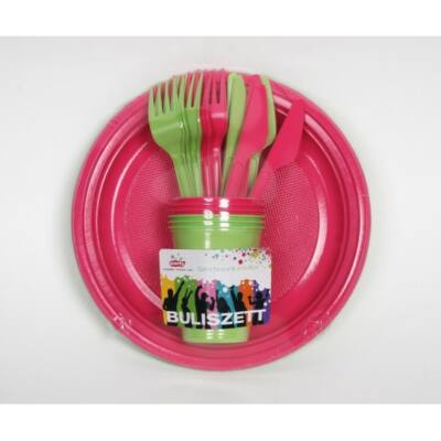 Pink-zöld party szett