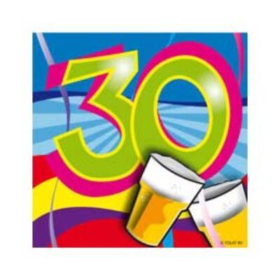 30. szülinapi parti szalvéta