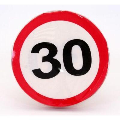 30. szülinapra sebességkorlátozó tábla szalvéta