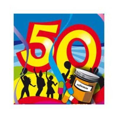 50. szülinapi parti szalvéta