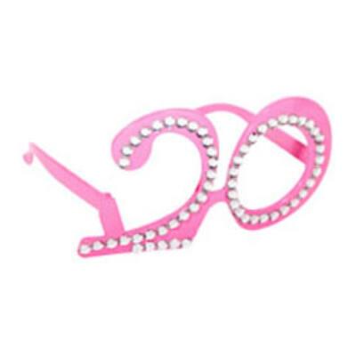 20. szülinapra pink strasszos szemüveg