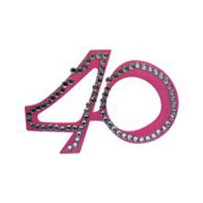 40. szülinapra pink strasszos szemüveg