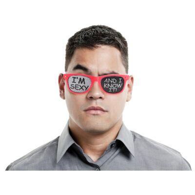 Szexi vagyok és tudom is party szemüveg