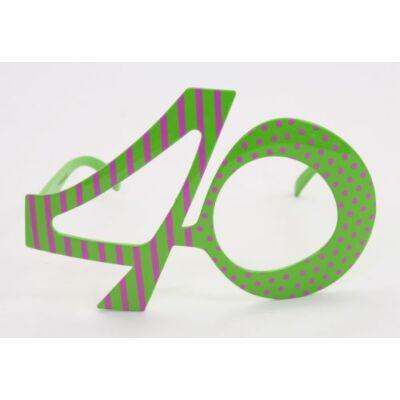 40. szülinapra szines szemüveg