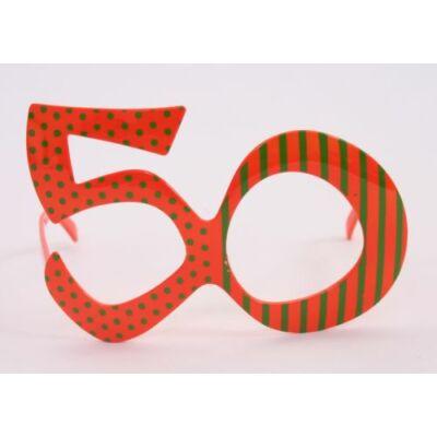 50. szülinapra szines szemüveg