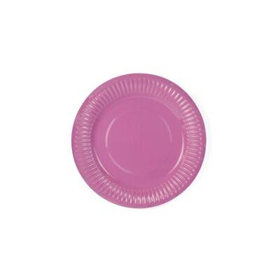 Rózsaszín tányér 6 db