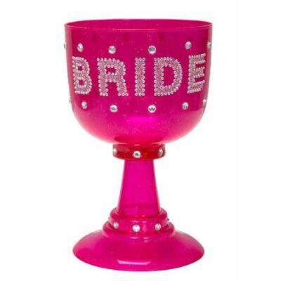 Pink óriás Bride feliratú pohár