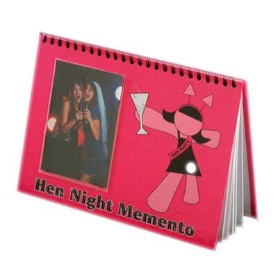 Pink lánybúcsús vendégkönyv