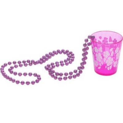 Pink nyaklánc virágos pohárral