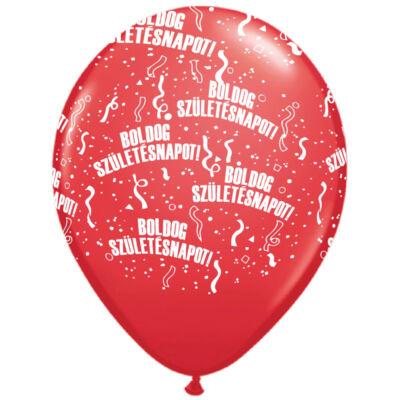 Piros boldog születésnapot lufi