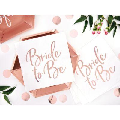 Rose gold bride to be szalvéta