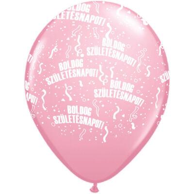 Rózsaszín boldog születésnapot héliumos lufi