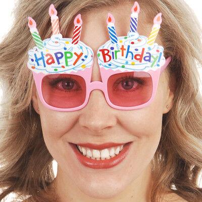 Rózsaszín tortás szülinapi szemüveg