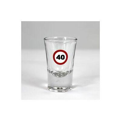 Sebességkorlátozó feles pohár 40 szülinapra