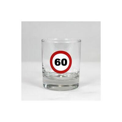 Sebességkorlátozó whiskys pohár 60 szülinapra