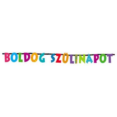 Színes boldog szülinapot betűfüzér 2,3 m