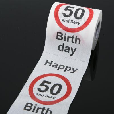 50. szülinapi wc papír