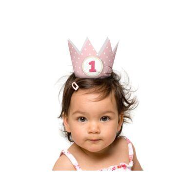 Rózsaszín első szülinapi korona
