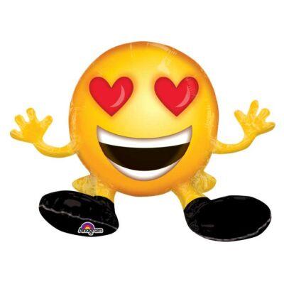 Ülő szives szemű smile figura lufi