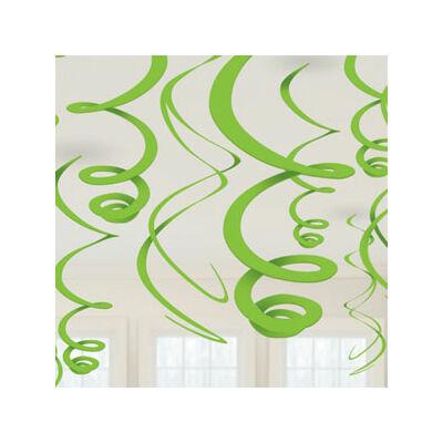 Zöld spirál függő dísz