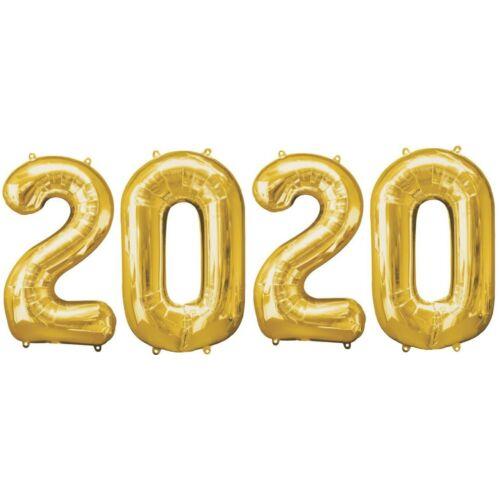 2020 arany héliumos fólia szám