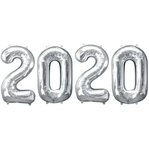2020 ezüst héliumos fólia szám