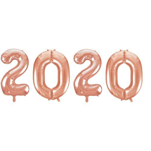 2020 rose gold héliumos fólia szám