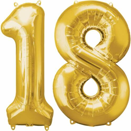 Arany 18 szám szülinapi héliumos lufi