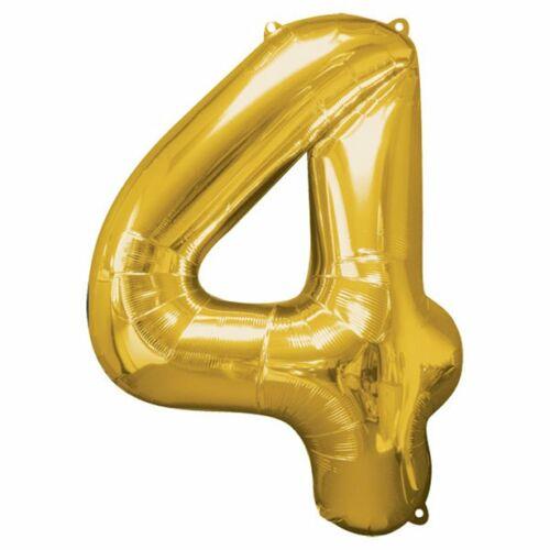 Arany 4 szám szülinapi héliumos lufi