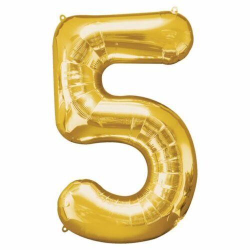 Arany 5 szám szülinapi héliumos lufi