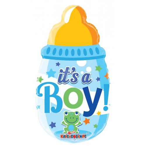Békás kisfiú cumisüveg héliumos lufi